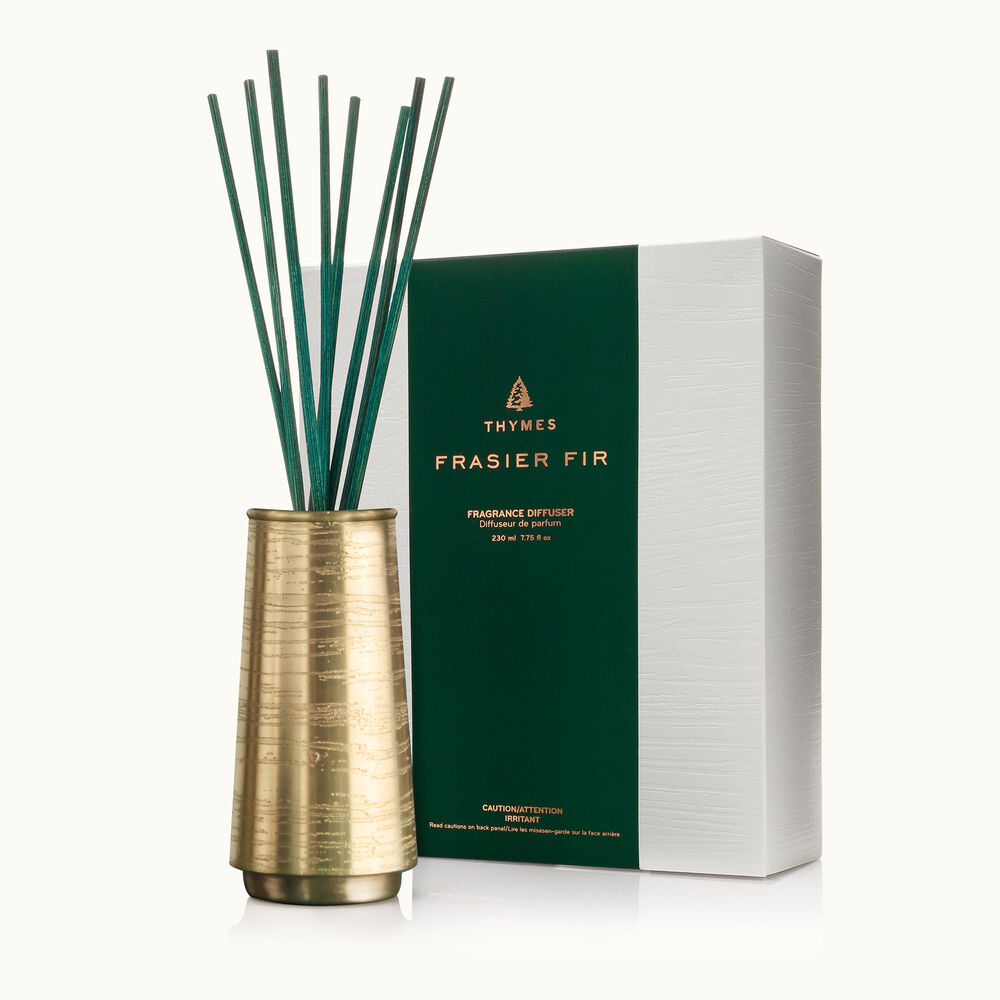 Thymes Frasier Fir Joyeux Metal Reed Diffuser is a Christmas Fragrance image number 0