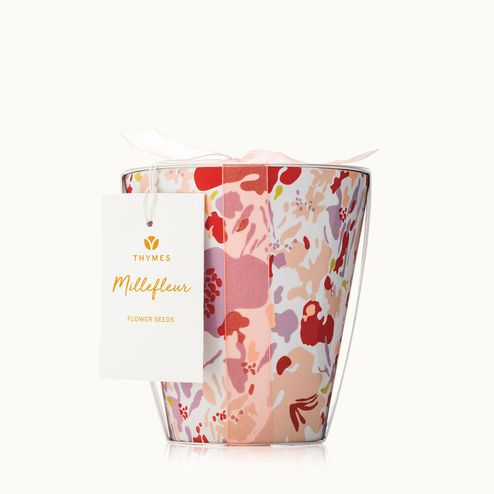 Thymes Millefleur Flower Pot Candle is Spring Decor image number 0
