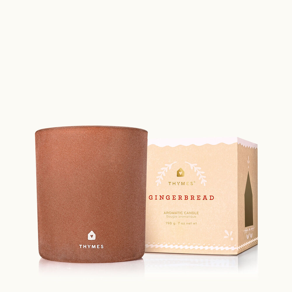 Thymes Gingerbread Medium Candle is a Warm Holiday Fragrance image number 0