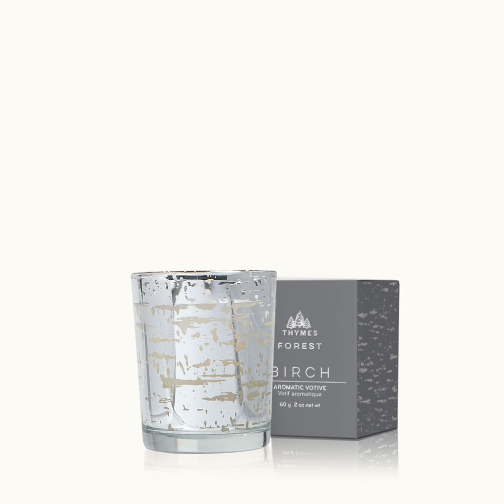 Thymes Forest Birch Votive Candle with Decorative Box image number 0
