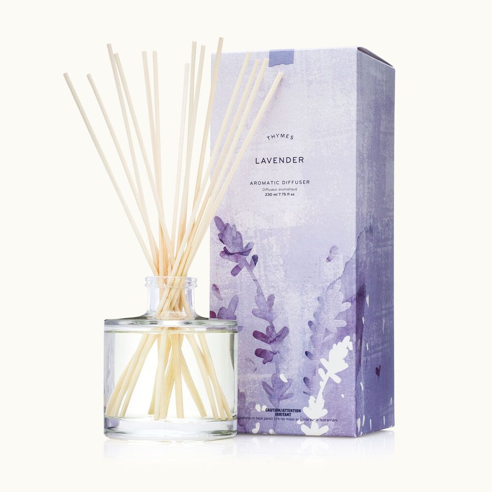 Thymes Lavender Reed Diffuser with Rattan Reeds image number 0