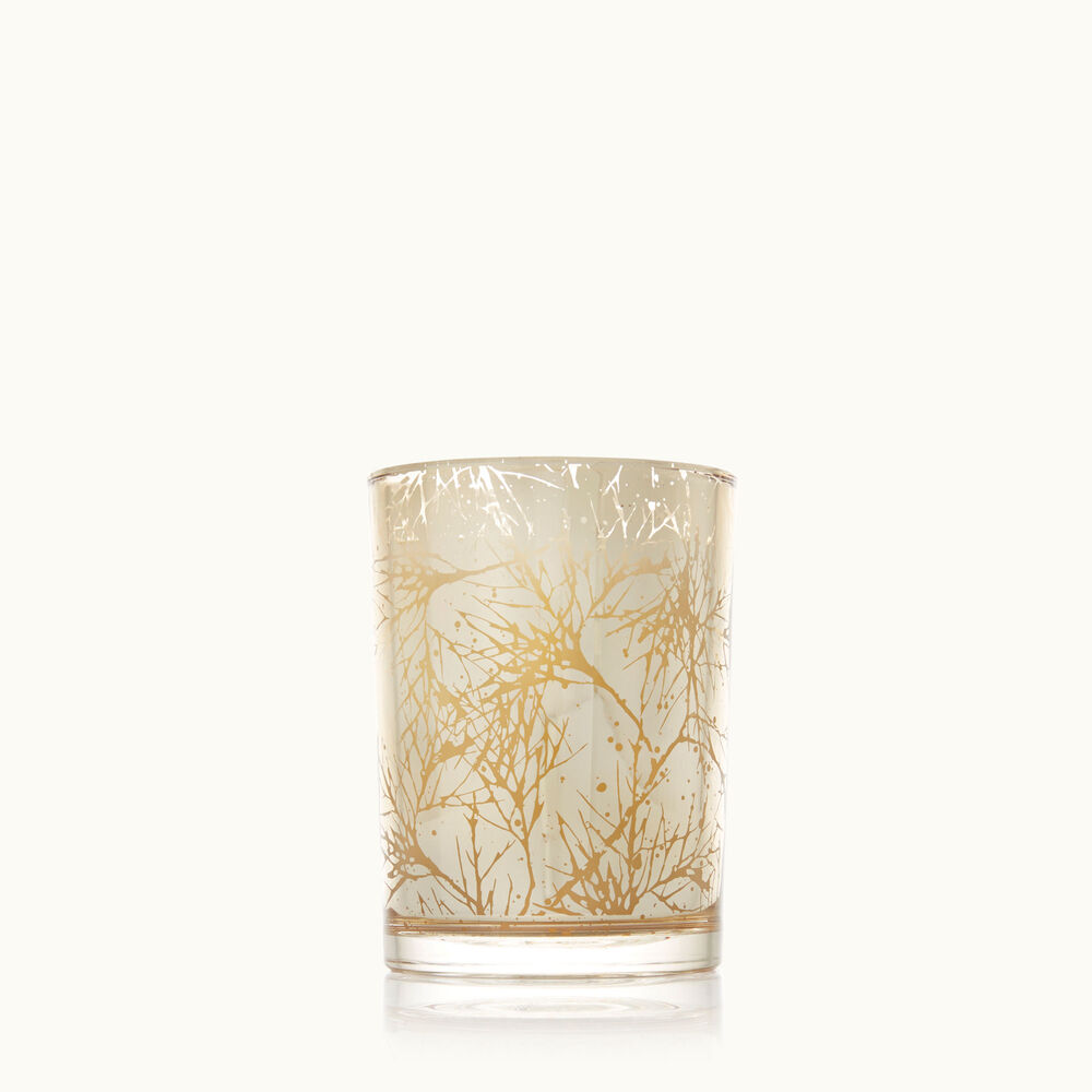 Thymes Forest Cedar Small Luminary Candle with Bark Pattern image number 0