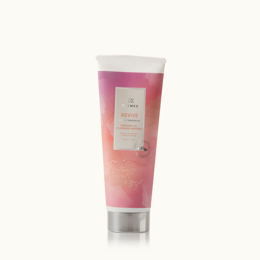 Thymes Wellness Revive Sweet Tangerine and Rosemary Moringa Oil Cleansing Mousse with natural ingredients image number 0