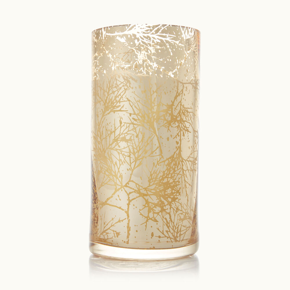 Thymes Forest Cedar Large Luminary Candle with Bark Pattern image number 0