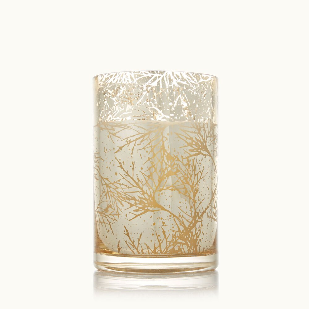 Thymes Forest Cedar Medium Luminary Candle with Bark Pattern image number 0