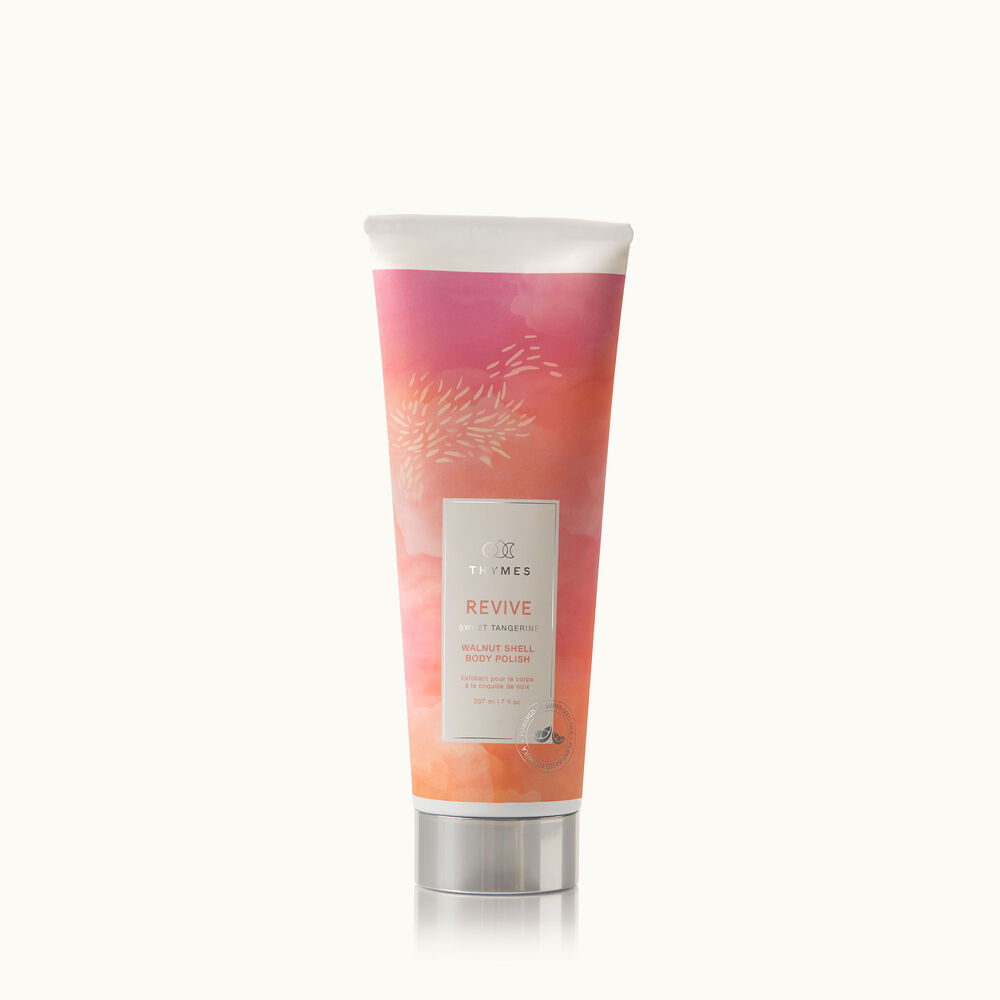 Thymes Wellness Revive Sweet Tangerine and Rosemary Walnut Shell Body Polish with natural ingredients image number 0
