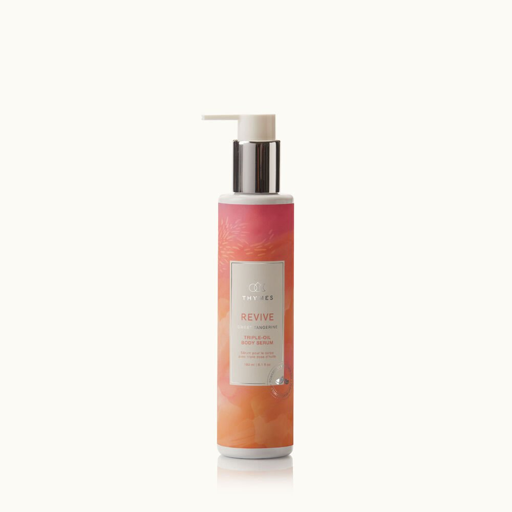 Thymes Wellness Revive Sweet Tangerine and Rosemary Triple Oil Body Serum with natural ingredients image number 0