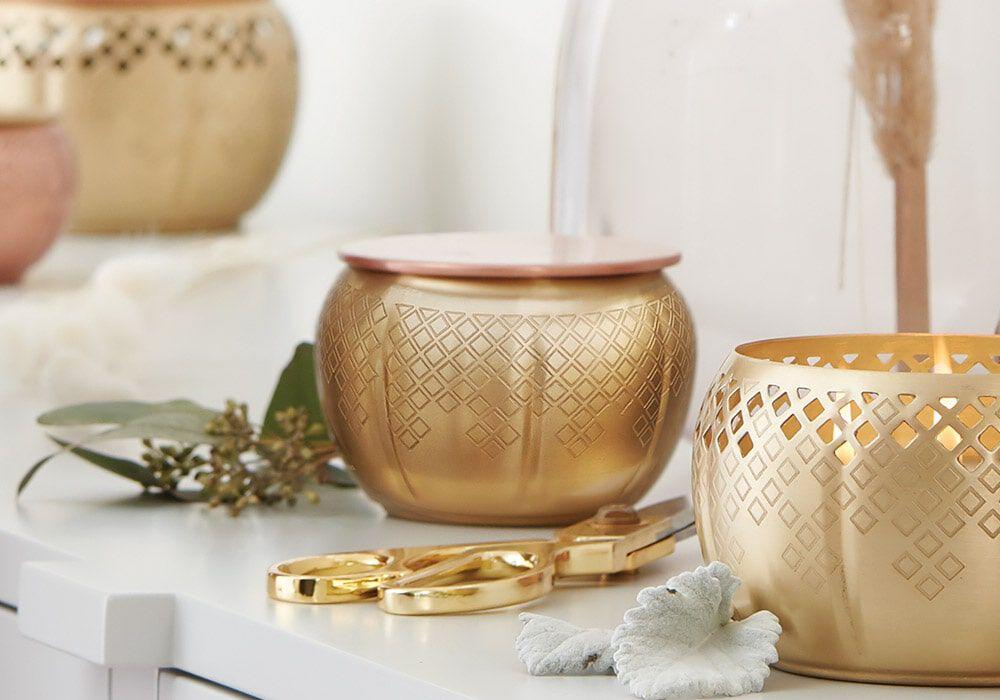 Heirlum Pumpkin Medium Gold Candle